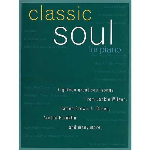 WISE PUBLICATIONS CLASSIC SOUL FOR PIANO - PVG