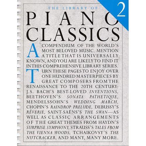 MUSIC SALES THE LIBRARY OF PIANO CLASSICS BOOK 2 - PIANO SOLO
