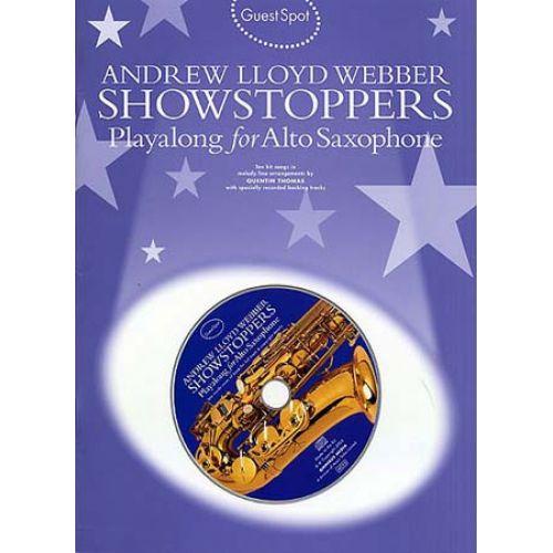 MUSIC SALES WEBBER A.L. - GUEST SPOT - SHOWSTOPPERS - SAXOPHONE ALTO