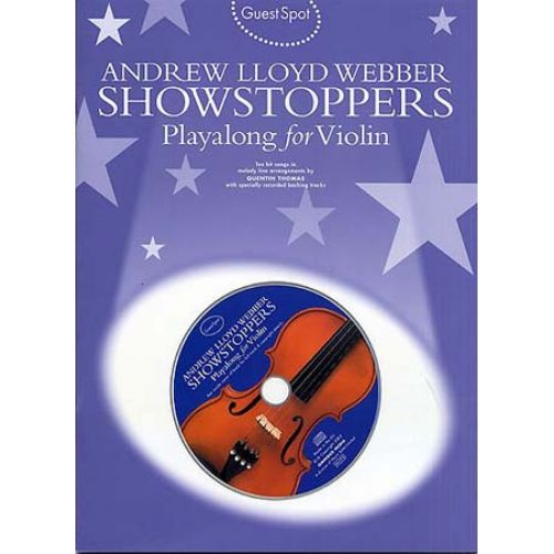 MUSIC SALES WEBBER A.L. - GUEST SPOT - SHOWSTOPPERS - VIOLON