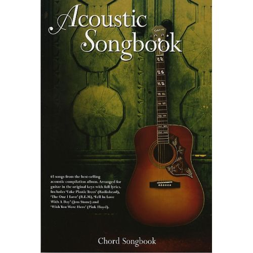WISE PUBLICATIONS ACOUSTIC SONGBOOK - CHORD SONGBOOK - LYRICS AND CHORDS