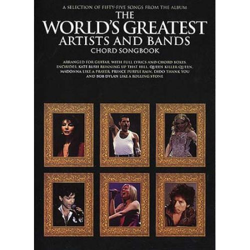 MUSIC SALES WORLD'S GREATEST ARTISTS & BANDS CHORD SONGBOOK