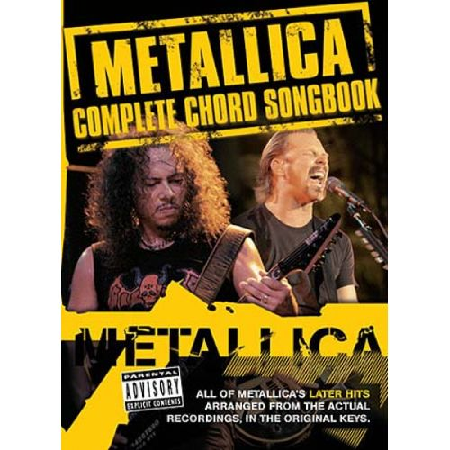 WISE PUBLICATIONS SONGBOOK :METALLICA CHORD SONGBOOK VOL.2 : THE LATER YEARS