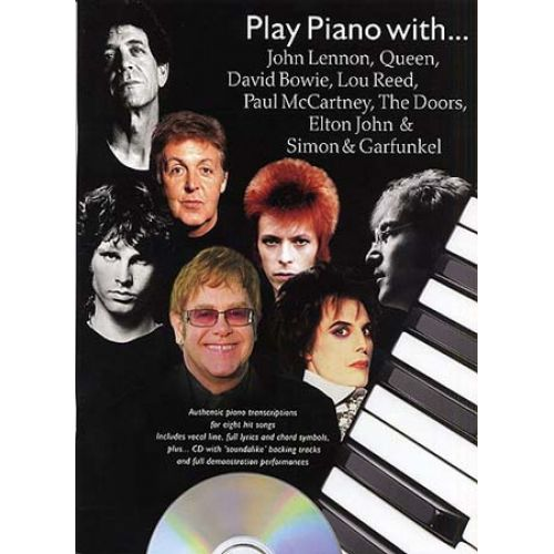 WISE PUBLICATIONS PLAY PIANO WITH JOHN LENNON, QUEEN, DAVID BOWIE, PAUL MCCARTNEY, THE DOORS, ELTON JOHN...