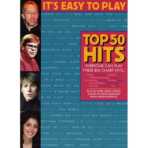 WISE PUBLICATIONS IT'S EASY TO PLAY TOP 50 HITS - PVG