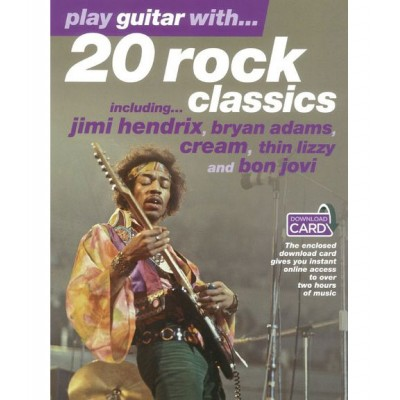 WISE PUBLICATIONS PLAY GUITAR WITH... 20 ROCK CLASSICS + AUDIO