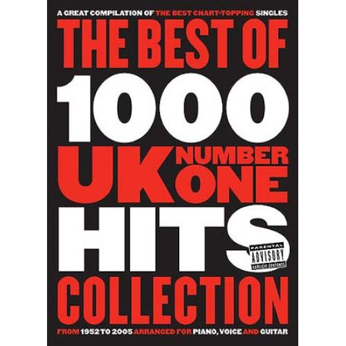 WISE PUBLICATIONS THE BEST OF 1000 UK NUMBER ONE HITS COLLECTION - PVG