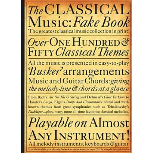 WISE PUBLICATIONS THE CLASSICAL MUSIC FAKE - MELODY LINE