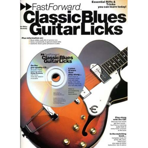 WISE PUBLICATIONS ROOKSBY RIKKY - CLASSIC BLUES GUITAR LICKS+ CD - GUITAR TAB