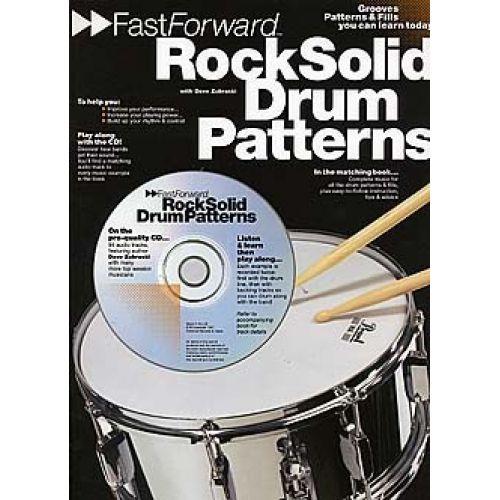 MUSIC SALES FAST FORWARD ROCK SOLID DRUM PATTERNS + CD - DRUMS