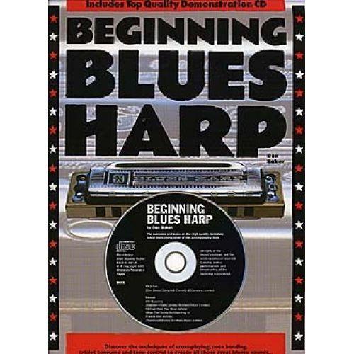 MUSIC SALES BAKER DON BEGINNING BLUES HARP HARMONICA + CD ENGLISH VERSION - HARMONICA