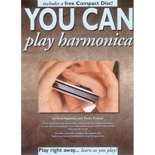 MUSIC SALES YOU CAN PLAY HARMONICA + CD - HARMONICA