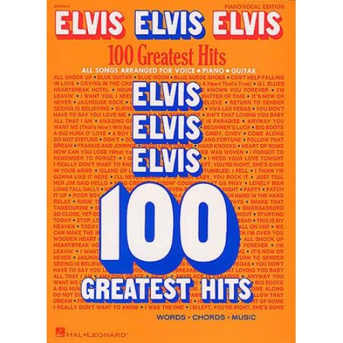 WISE PUBLICATIONS ELVIS ELVIS ELVIS 100 GREATEST HITS - PVG