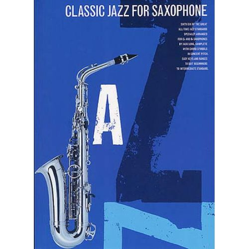 MUSIC SALES CLASSIC JAZZ FOR SAXOPHONE