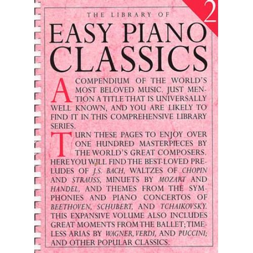 MUSIC SALES LIBRARY OF EASY PIANO CLASSICS VOL.2