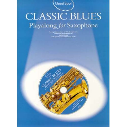 WISE PUBLICATIONS GUEST SPOT CLASSIC BLUES SAX ALTO CD