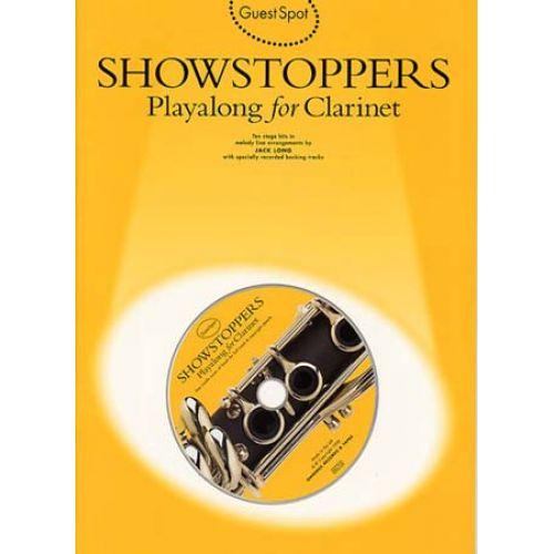 WISE PUBLICATIONS GUEST SPOT AVEC CD : SHOWSTOPPERS POUR CLARINETTE