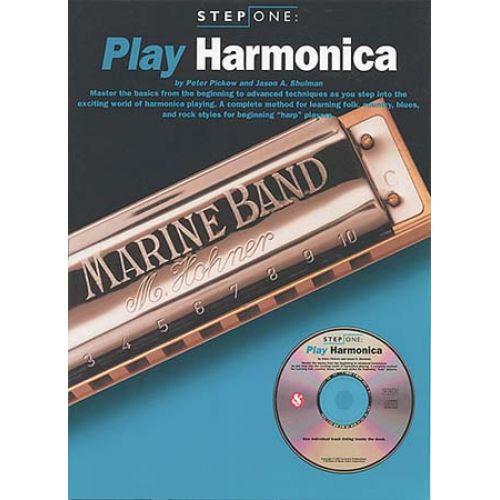 MUSIC SALES STEP ONE PLAY HARMONICA + CD - HARMONICA