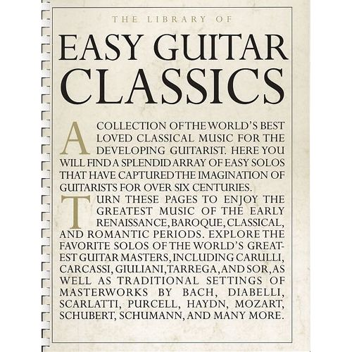 MUSIC SALES LIBRARY OF EASY GUITAR CLASSICS