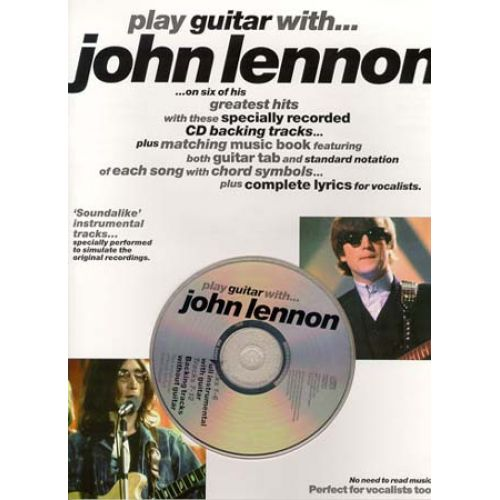 WISE PUBLICATIONS JOHN LENNON - PLAY GUITAR WITH AVEC CD