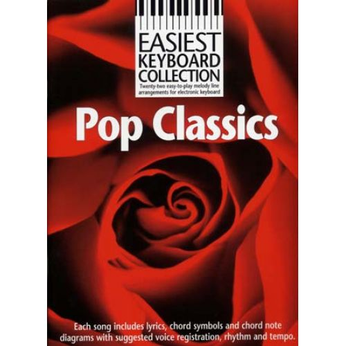 WISE PUBLICATIONS EASIEST KEYBOARD COLLECTION - POP CLASSICS - PAROLE ET ACCORDS