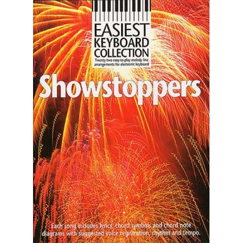 MUSIC SALES PETER EVANS - SHOWSTOPPERS - MELODY LINE, LYRICS AND CHORDS