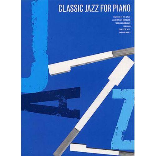MUSIC SALES CLASSIC JAZZ- PIANO SOLO