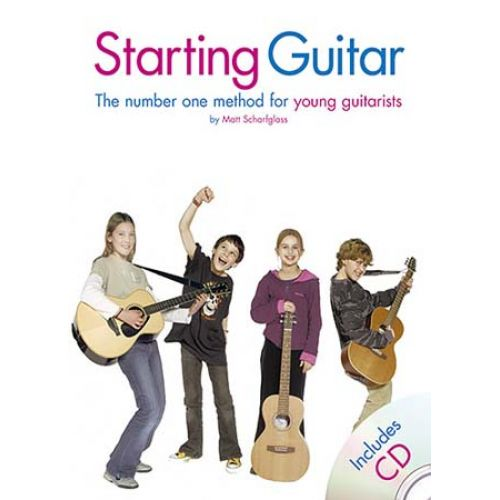 WISE PUBLICATIONS SCHARFGLASS MATT - STARTING GUITAR - THE NUMBER ONE METHOD FOR YOUNG GUITARISTS - GUITAR