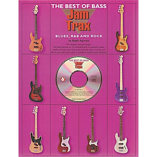 MUSIC SALES JAM TRAX THE BEST OF BASS BLUES, R&B AND ROCK + CD - BASS GUITAR