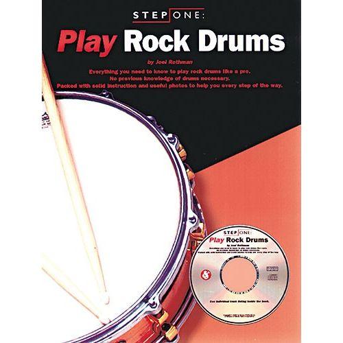 MUSIC SALES STEP ONE PLAY ROCK DRUMS + CD - DRUMS