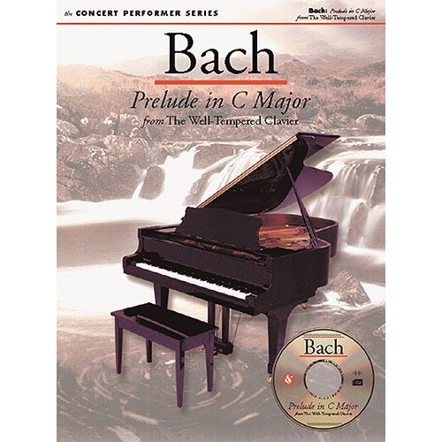 MUSIC SALES BACH PRELUDE IN C MAJOR + CD - PIANO SOLO