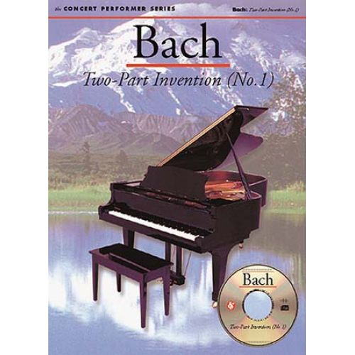 MUSIC SALES BACH J.S. - TWO-PART INVENTIONS - CONCERT PERFORMER SERIES + CD - PIANO SOLO