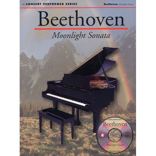 MUSIC SALES BEETHOVEN LUDWIG - BEETHOVEN - MOONLIGHT SONATA WITH AUDIO CD - PIANO SOLO