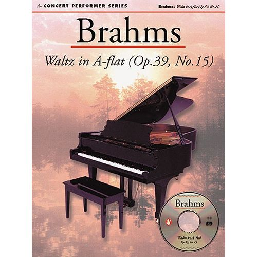 MUSIC SALES BRAHMS JOHANNES - BRAHMS - WALTZ IN A FLAT - CONCERT PERFORMER SERIES - PIANO SOLO