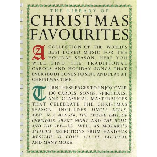 WISE PUBLICATIONS THE LIBRARY OF CHRISTMAS FAVOURITES - PVG