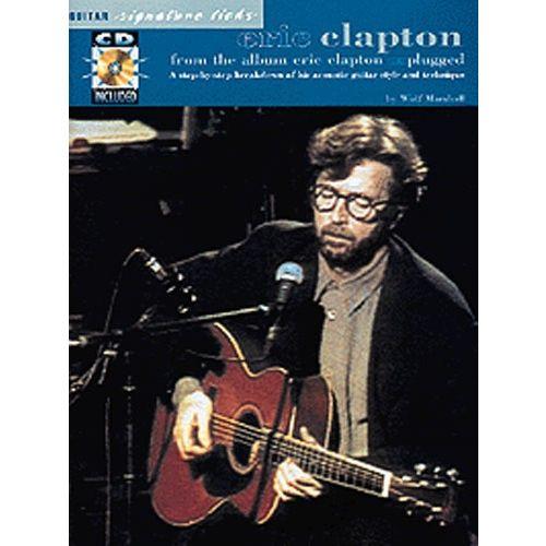 MUSIC SALES ERIC CLAPTON - UNPLUGGED GUITAR SIGNATURE LICKS + CD - GUITAR TAB