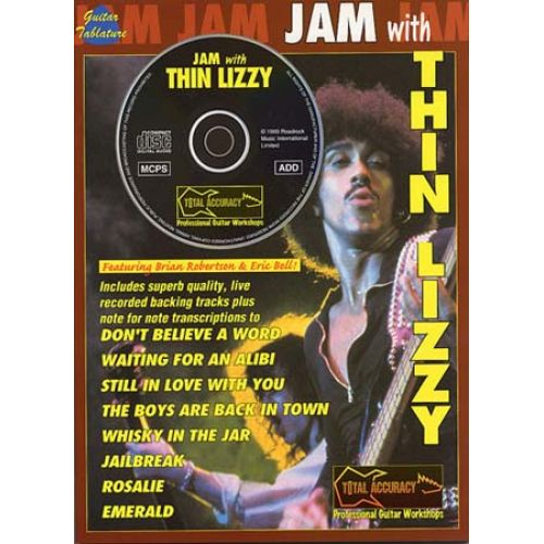 MUSIC SALES THIN LIZZY - JAM WITH + CD - GUITAR TAB