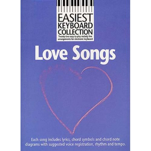MUSIC SALES LOVE SONGS - LOVE SONGS - MELODY LINE, LYRICS AND CHORDS ...
