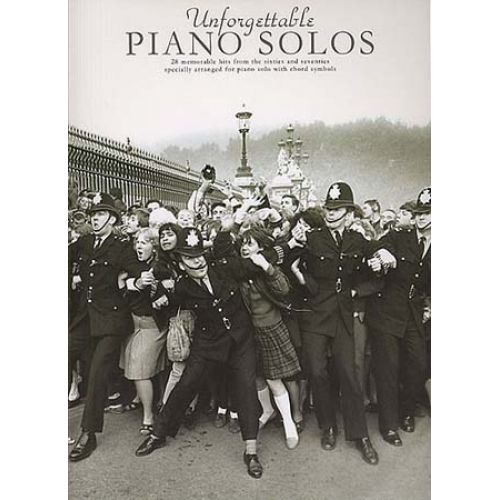 MUSIC SALES UNFORGETTABLE PIANO SOLOS - ALL-TIME POP HITS - PIANO SOLO AND GUITAR