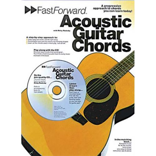 MUSIC SALES FAST FORWARD ACOUSTIC GUITAR CHORDS + CD - GUITAR