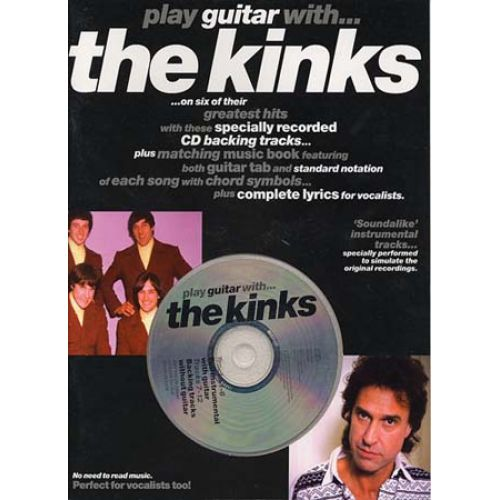 MUSIC SALES KINKS - PLAY GUITAR WITH + CD - GUITAR TAB