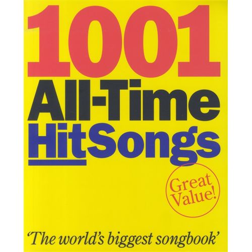 WISE PUBLICATIONS 1001 ALL-TIME HIT SONGS - MELODY LINE, LYRICS AND ...