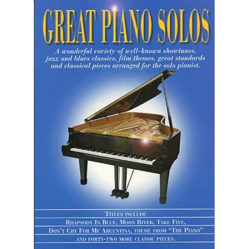 MUSIC SALES GREAT PIANO SOLOS - BLUE BOOK
