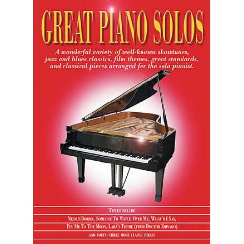 MUSIC SALES GREAT PIANO SOLOS - RED BOOK