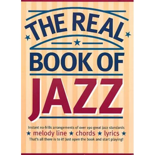 MUSIC SALES REAL BOOK OF JAZZ