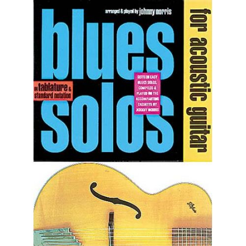 MUSIC SALES BLUES SOLOS ACOUSTIC GUITAR + CD - GUITAR TAB