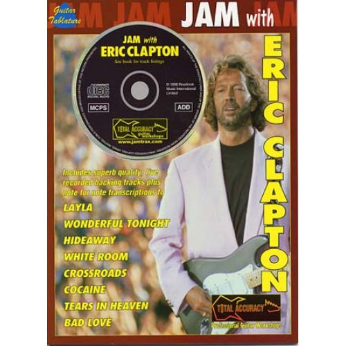MUSIC SALES CLAPTON ERIC - JAM WITH + CD - GUITAR TAB