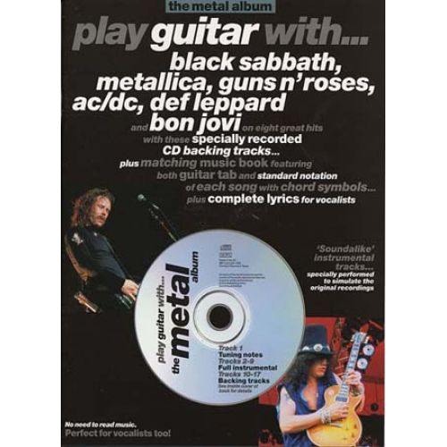 MUSIC SALES PLAY GUITAR WITH - METAL ALBUM + CD - GUITAR TAB
