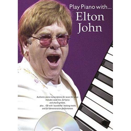 MUSIC SALES JOHN ELTON - PLAY PIANO WITH + CD