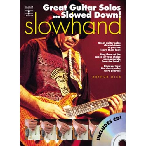 MUSIC SALES SLOWHAND GREAT GUITAR SOLOS SLOWED DOWN